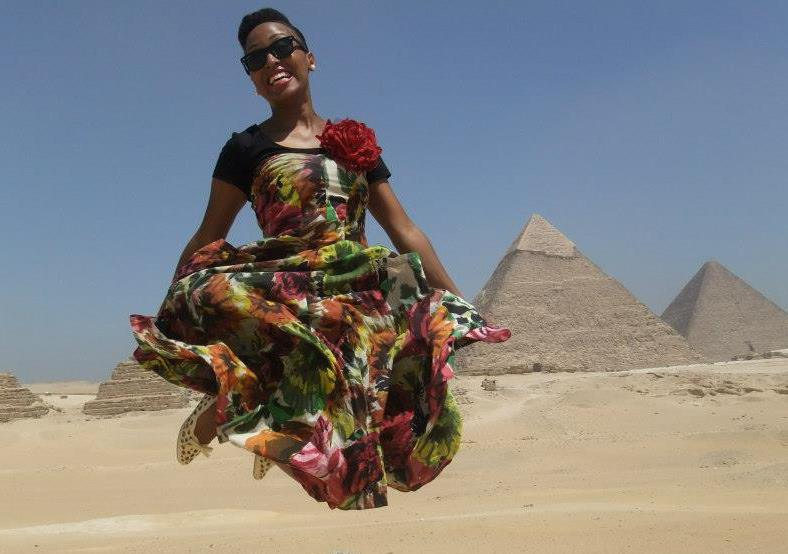Jumping for Joy in Cairo