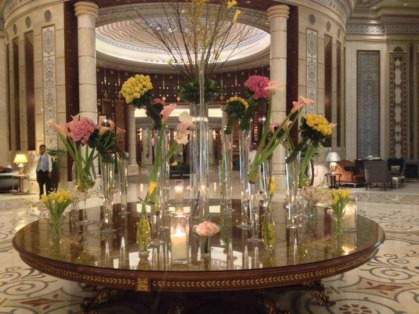 Inside of the Ritz-Carlton last year in Riyadh.