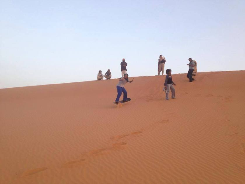 Sandboarding in Riyadh last year.