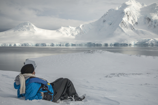 My new friend from Columbia, Andres captured this remarkable moment in Antarctica.