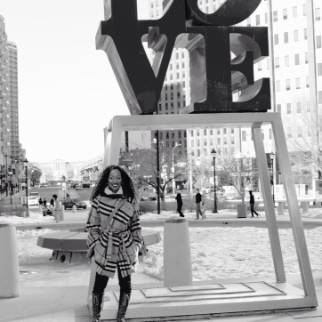 You have to take a shot by the LOVE letters when you're in Philadelphia.